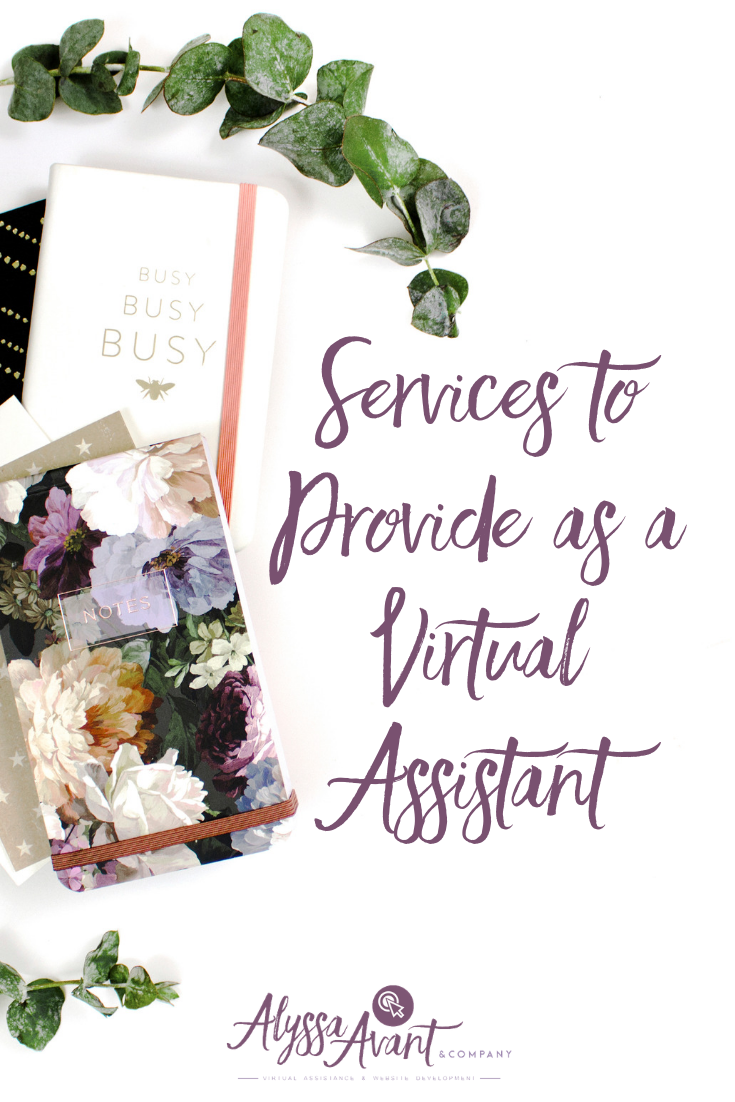 Services to Provide as a Virtual Assistant