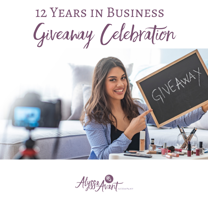 Celebrating 12 Years in Business with a Giveaway!