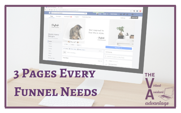 3 Pages Every Funnel Must Have – And What to Include on Them!