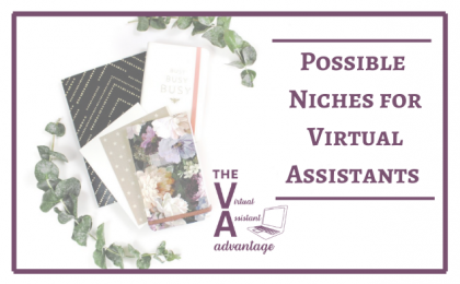 niches for the virtual assistant
