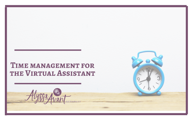 Time Management for the Virtual Assistant