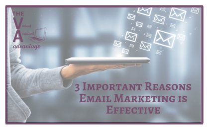 3 Important Reasons Email Marketing is Effective