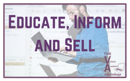 Encourage, Inform and Sell